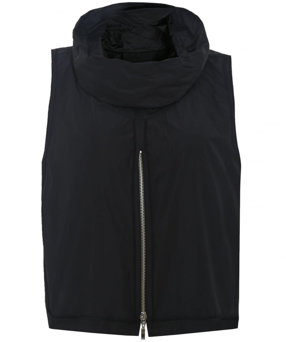 Xenia Design Women's Baug Taffeta Zip Up Top Black M