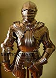 Maximilian suit Renaissance of Armor Halloween Costume With Closed Helmet Knight Suit Of Templar Armor