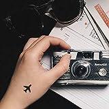 Little Aeroplane Shadow Temporary Fake Tattoo Sticker (Set of 4) - www.ohmytat