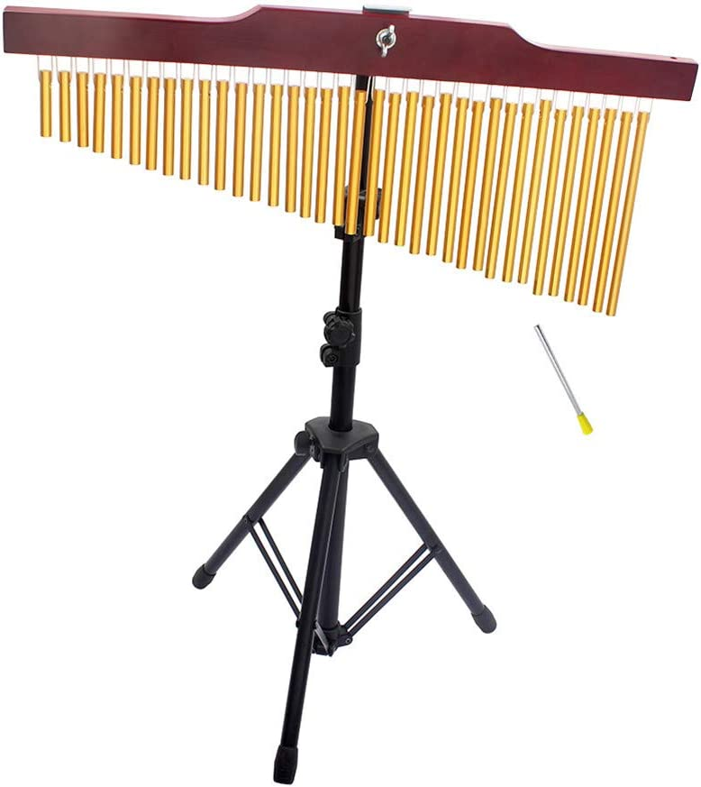 od Stand Striker SSEDEW 36-Tone Bar Chimes Single-Row Wind Chime Musical Percussion Instrument with Trip