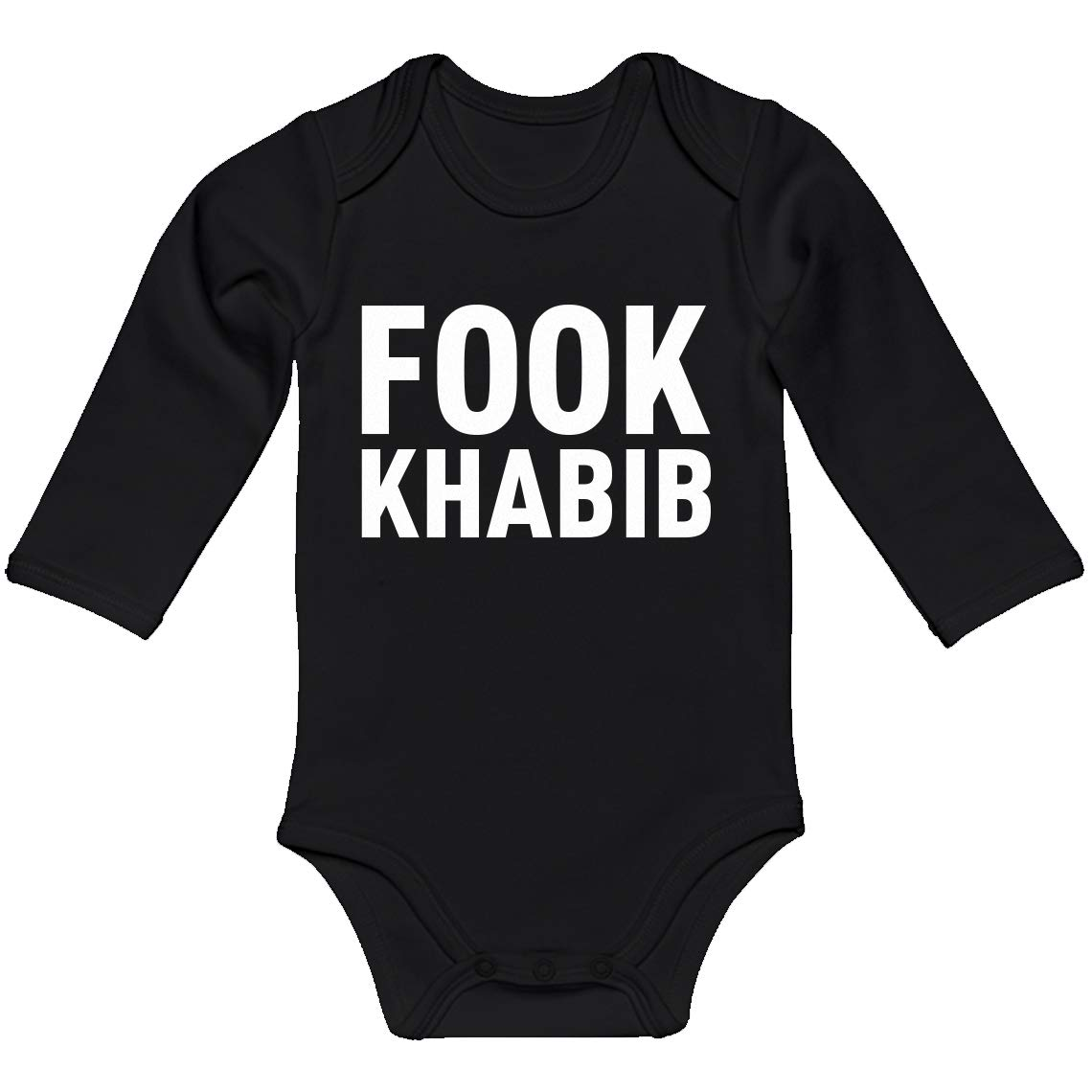 Indica Plateau Baby Onesie Fook Khabib 100/% Cotton Long Sleeve Infant Bodysuit