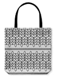 Gear New Shoulder Tote Hand Bag, With Decorative Leaves Print Cloth Design Wallpaper, 16x16, 6037852GN