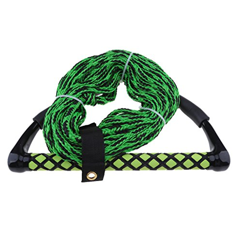 (Pukido Tow Rope 75ft w/EVA Floating Handle Water Sports Skiing Wakeboarding Green)