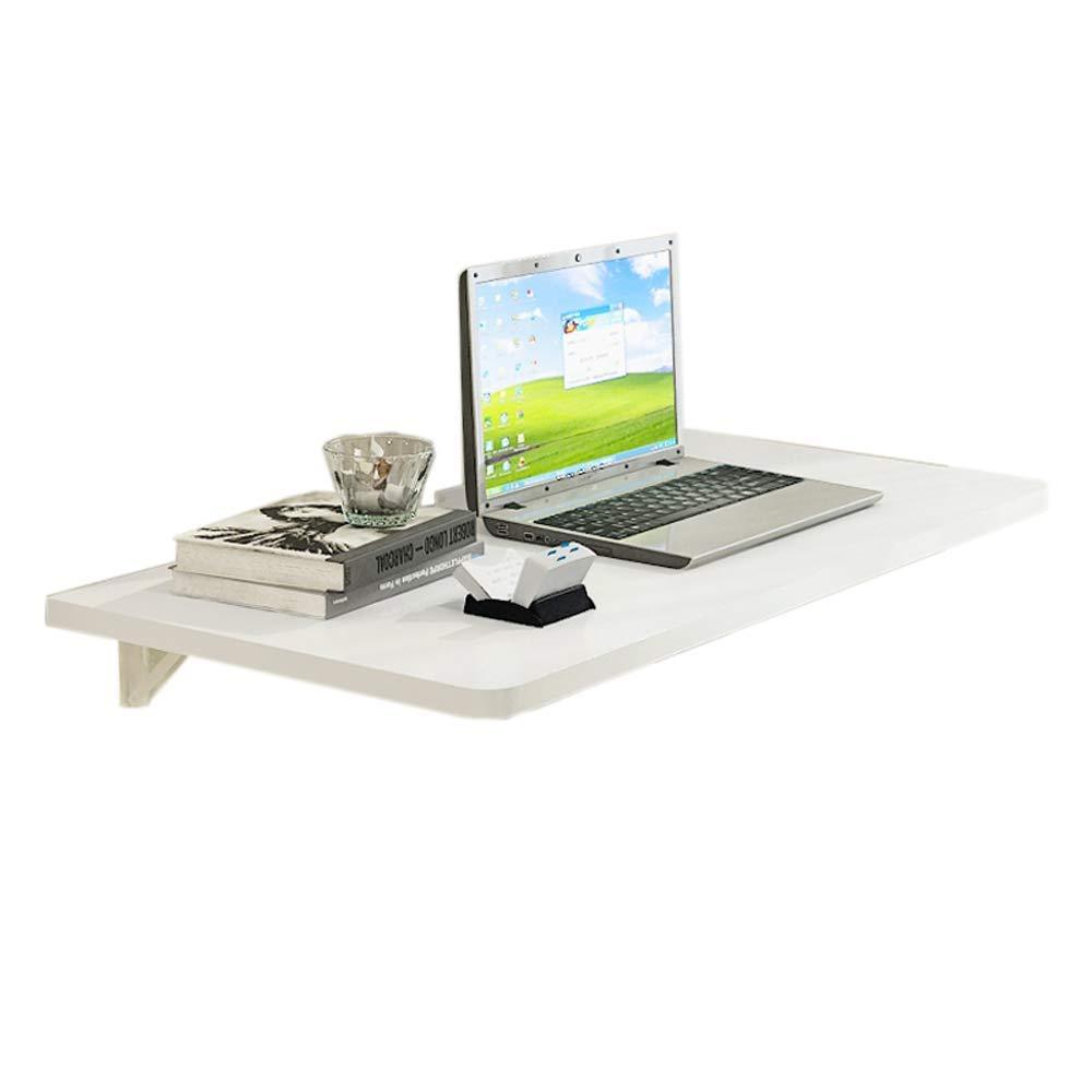 折りたたみデスク 折りたたみテーブル、折りたたみ式パソコンデスク、小さな家族との夕食のテーブル、壁掛けウォールラック、テレビのセットトップボックス、ノートブックデスクサイドテーブル A++ (サイズ さいず : 100x40cm) 100x40cm  B07PYZZZ2Y