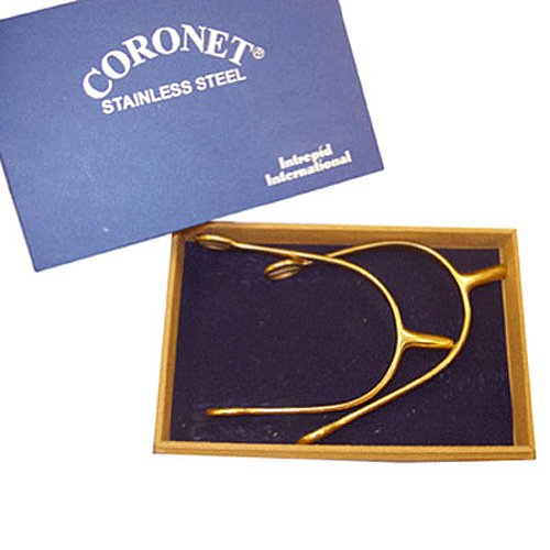 Coronet Men's POW Boxed Gold Spurs, 3/4-Inch