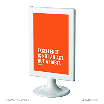 inspirational frames for office. Andaz Press Motivational Framed Desk Art, Excellence Is Not An Act, But A Habit Inspirational Frames For Office E
