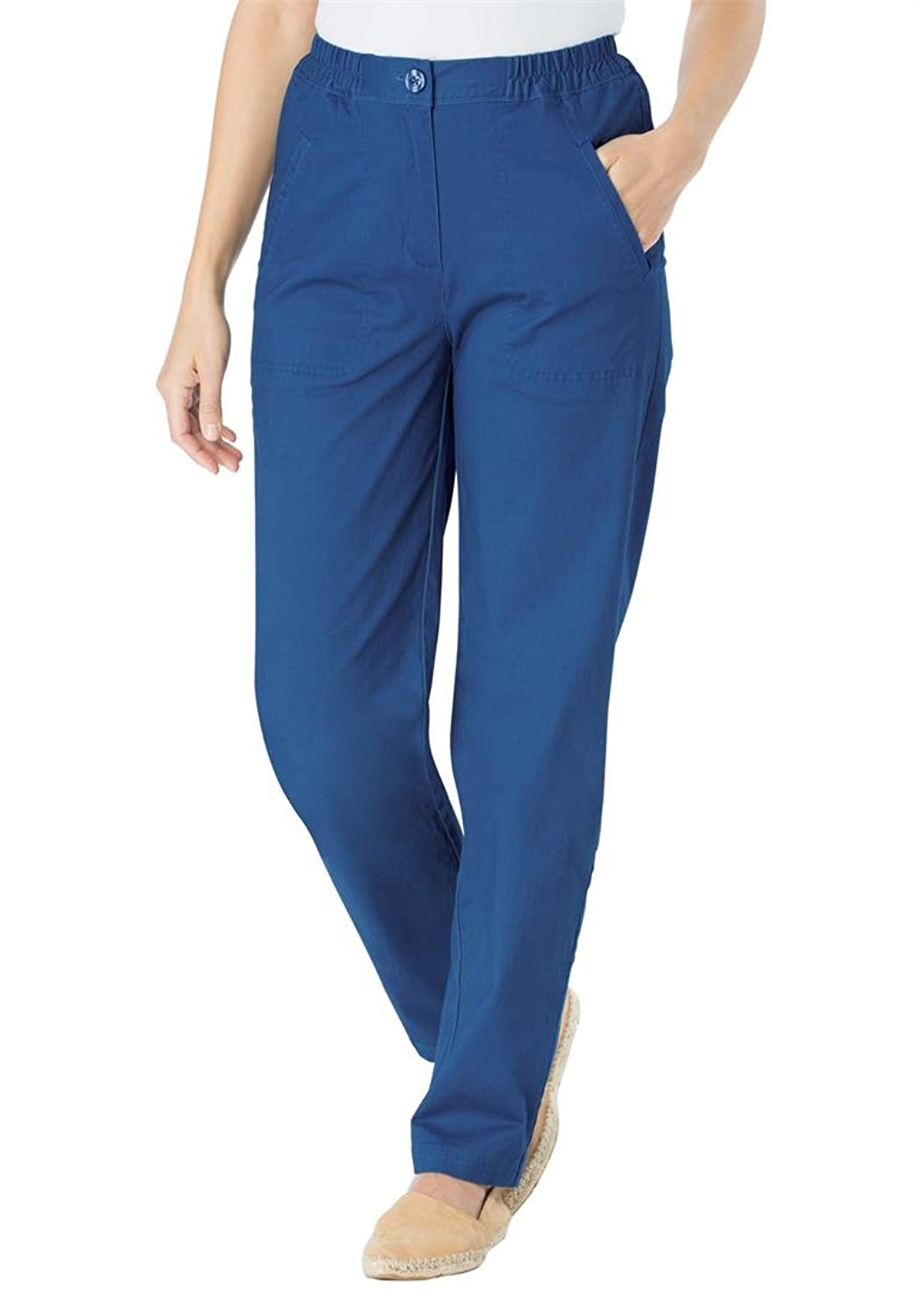 Women's Plus Size Petite Peached Stretch Pants