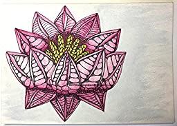 ''Lotus Seeds'' (Blank inside) Greeting Card 5'' x 7''