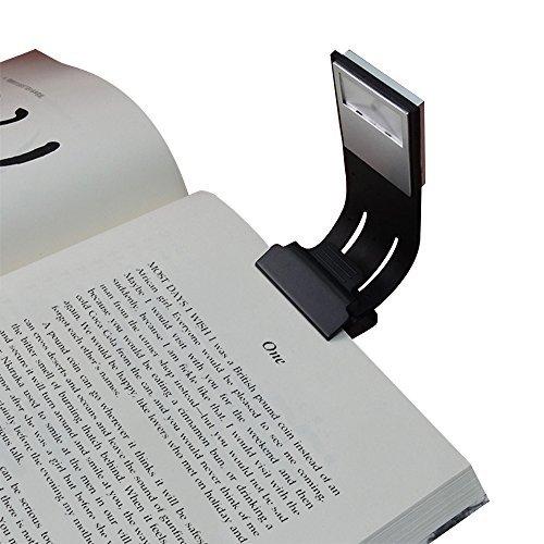 Clip Luz de lectura, aoliplus rígida Switch 4niveles de brillo LED luz del libro multifuncional como marcapáginas cama...