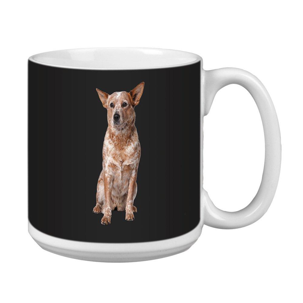 Tree Free Greetings XM28996 I Heart Australian Cattle Dogs Artful Jumbo Mug 20-Ounce