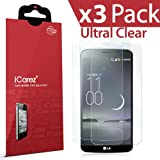 iCarez [HD Clear] Screen Protector for LG G Flex [ Unique Hinge Method With Installation Kits ] Easy Install with Lifetime Replacement Warranty (3-Pack) - Retail Packaging