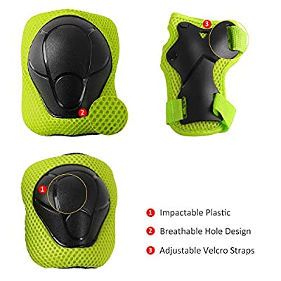 YF YouFu Protective Gear Set for Kids, Adjustable Helmet Elbow Pads Knee Pads Wrist Pads Suitable for Ages 3-10 Years Boys, Girls, Sports Protective Gear Set for Skateboard, Bike, Rollerblade, Cycling : Sports & Outdoors