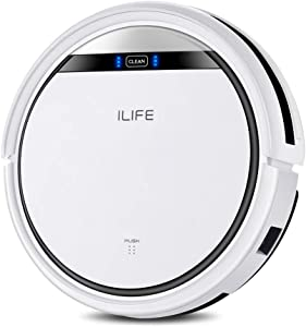 ILIFE V3s Pro Robot Vacuum Cleaner,Tangle-free Suction , Slim, Automatic Self-Charging Robotic Vacuum Cleaner, Daily Schedule Cleaning, Ideal For Pet Hair,Hard Floor and Low Pile Carpet