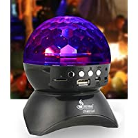 Disco DJ Bluetooth Speaker Portable Crystal Stage Party Dance Light ,LED Crystal Ball Auto Rotating Color Changing Wireless Bluetooth Speakers Party Dance, Ball, halloween, Birthday, Christmas (Black)