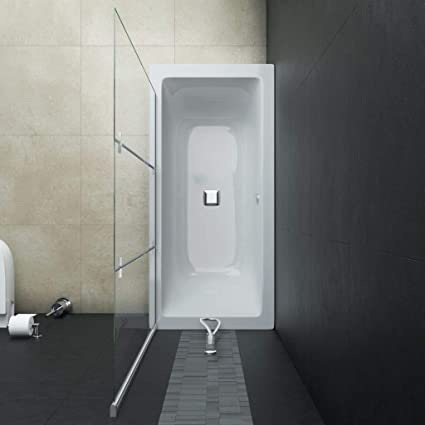 Tidyard Mampara de Ducha Plegable 2 Paneles ESG 120x140 cm: Amazon.es: Hogar
