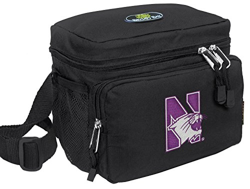 Broad Bay Northwestern University Lunch Bag Official NCAA Northwestern Wildcats Lunchboxes (Wildcats Lunch Northwestern)