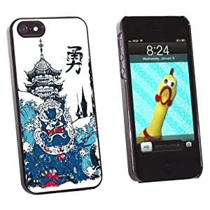 Graphics and More Chinese Dragon Waves and Pagoda - Snap-On Hard Protective For SamSung Note 2 Phone Case Cover - Non-Retail Packaging - Black