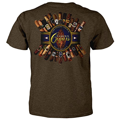 The Finest Choice Hand Select Famous Cigars T-Shirt (XX-Large, Brown Heather)