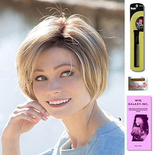 Nala by Amore, Wig Galaxy Hair Loss Booklet, Wig Cap & Magic Wig Styling Comb/Metal Pick Combo (Bundle - 4 Items) (Petite-Average, Ice Blond)