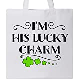 Inktastic - Im His Lucky Charm-St. Patricks Day couple Tote Bag White 2eee4
