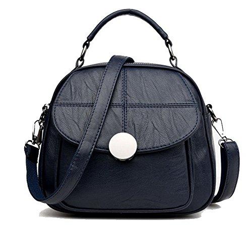 AgooLar Femme Tourisme Achats Boucle Sacs à dos Daypack Sacs à bandoulière, GMBBB181604, Bleu Foncé Bleu Foncé
