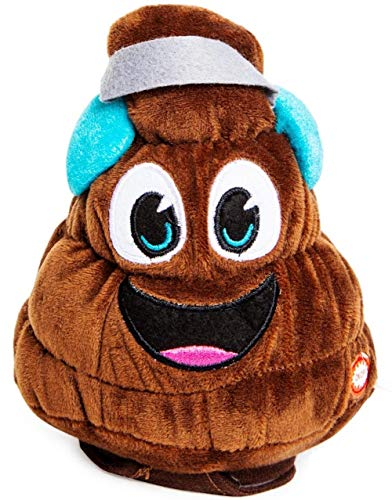 Animated, Dancing Musical Plush Christmas Toy, - Farting Tooting Poop - Plays Stinky Jingle Bells (Earmuff Poop) (Potty Porta Toy)