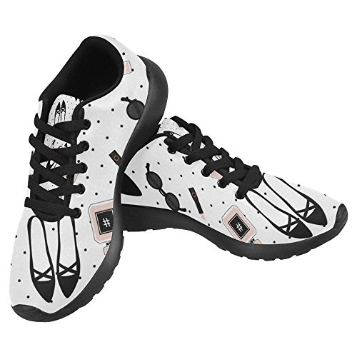 InterestPrint Womens Jogging Running Sneaker Lightweight Go Easy Walking Casual Comfort Sports Running Shoes For Women Multi 63 by5TtccOS