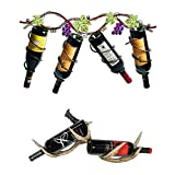 Four and Two Bottle Wine Rack, Set of 2