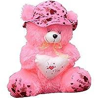 GARG Teddy Bear With Cap -Pink 40 Cm