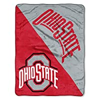 """The Northwest Company Officially Licensed NCAA Ohio State Buckeyes Halftone Micro Raschel Throw Blanket, 46"""" x 60"""", Multi Color"""