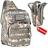 LPV PRODUCTS Army Tactical Backpack Molle | Sling Back Pack | Best Military Survival Gear Men Women - Range Shoulder Sling Bags - Small One Strap Bag Hiking