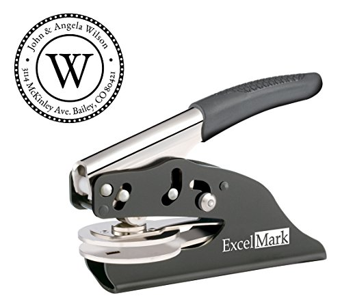 Dotted Circle Monogram Address Hand Embosser