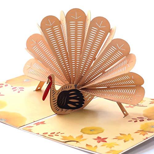 Paper Spiritz Pop up Thank You Card Turkey Pop Up Card, Thank You Day Thank You Card 3D Holiday Christmas Greeting Card with Envelope