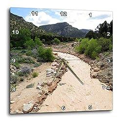 3dRose Jos Fauxtographee- Stream - The Muddy River in Fiddlers Canyon in Cedar City Utah - 10x10 Wall Clock (DPP_309718_1)