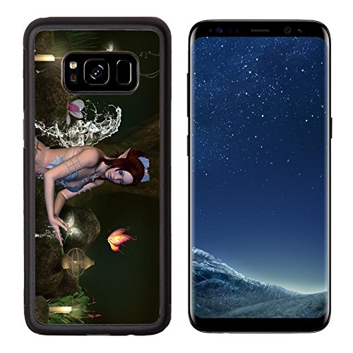MSD Premium Samsung Galaxy S8 Aluminum Backplate Bumper Snap Case IMAGE ID: 14006211 Secret bath (Enchanted Forest Candle Holder)