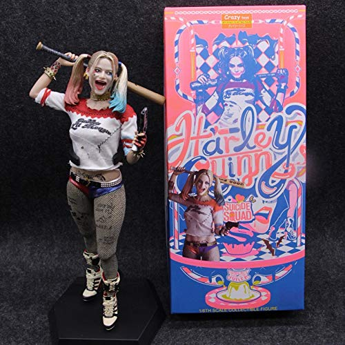 Fallhuoz CraToys Suicide Squad Harley Quinn 1/6 Scale PVC Collectible Figure Model Toys with True Cloth