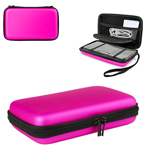 1Pcs 3dsxl Case 3ds Case with 8 Game Holders ,Hongfa Replacement Hard Protective Carrying Case for Nintendo NEW 3DS XL ,NEW 3DS , 3DS XL ,(Pink) (NOT FOR Nintendo Switch and Nintendo 2DS )