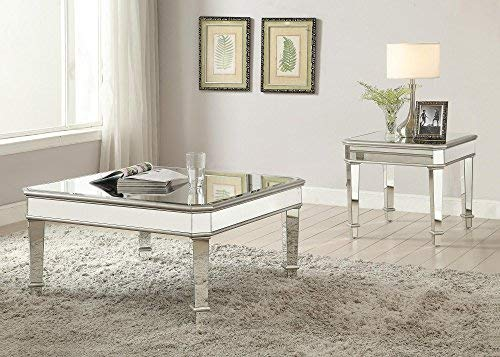 Cairns Square Mirrored Coffee Table Silver Buy Online In Uae
