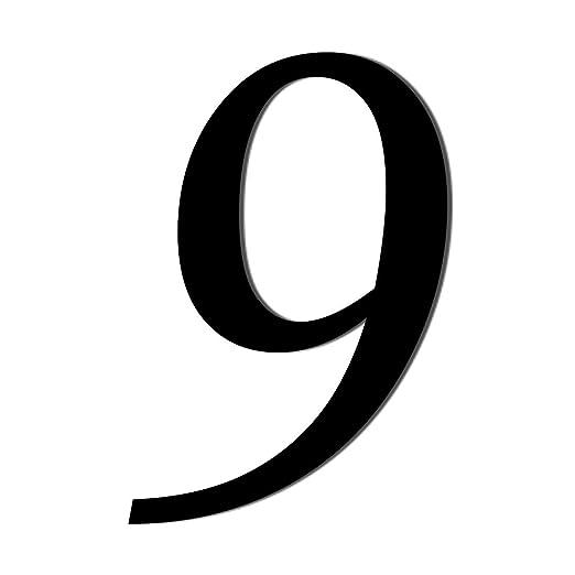 Bütic Gmbh Plexiglas Zahlen Schwarz Weiß Mt Satz Und