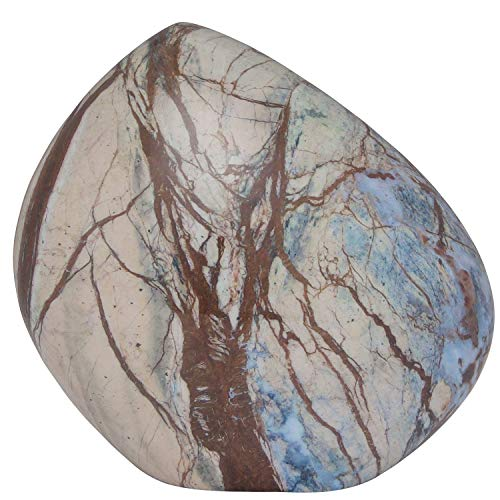 Ansons Urns Cremation Urn - Mountain/Rock Funeral Urn - Aluminum Memorial Garden Burial Urn for Human Ashes Adult Size - Aluminum with Marbled Design (Blue Marble) (Stone Cremation Urn)