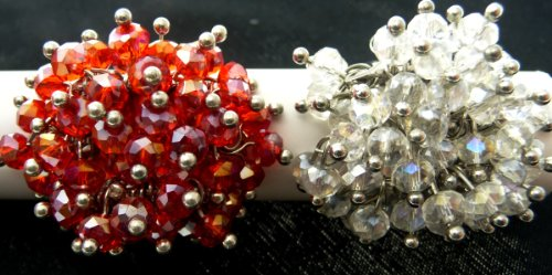 Adjustable Cluster (AXS-11/SC: ADJUSTABLE CLUSTER BEAD RING PAIR)