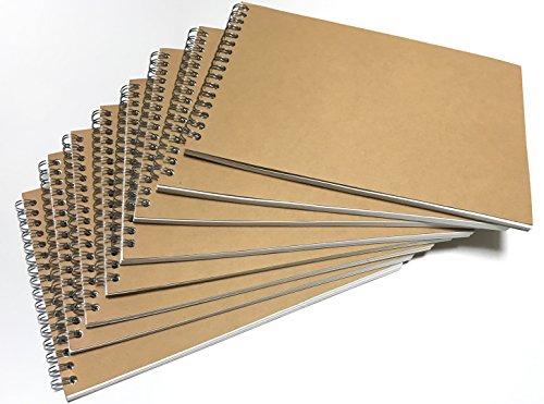 VEEPPO Kraft Blank Spiral Notebook Horizontal A5 (Set of 8pcs)
