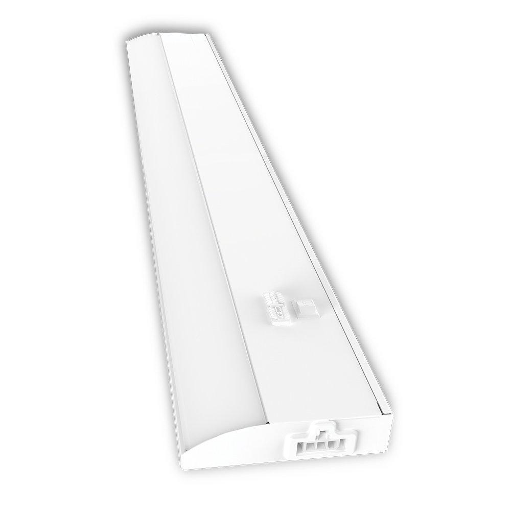 "Good Earth Lighting UC1138-WH1-24LF0-G LED Slim Direct Wire Light Bar, 24"", White"
