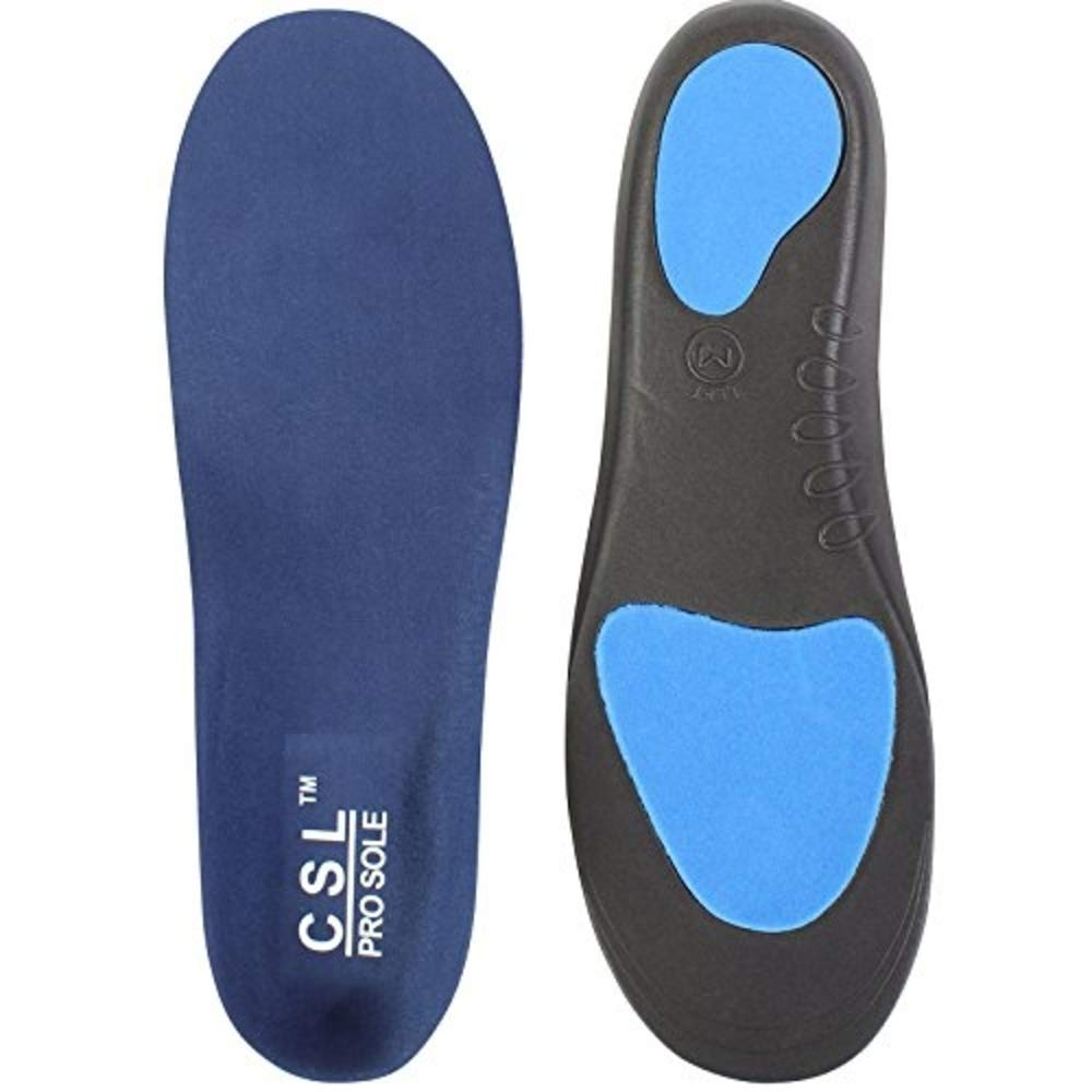 CSL Orthotic Insoles Arch Support Back Heel Pain Treatment of Plantar Fasciitis