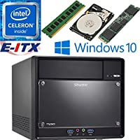 Shuttle SH110R4 Intel Celeron G3930 (Kaby Lake) XPC Cube System , 4GB DDR4, 120GB M.2 SSD, 2TB HDD, DVD RW, WiFi, Bluetooth, Window 10 Pro Installed & Configured by E-ITX