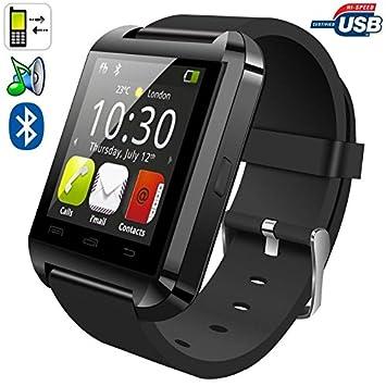 Montre connectée smartwatch Bluetooth Android écran tactile Noir
