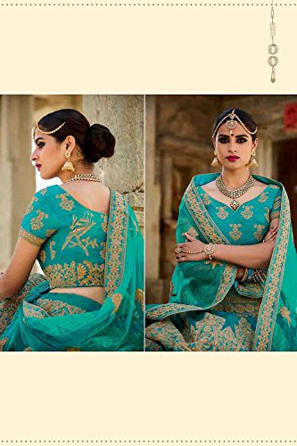 Da Facioun Pretty Lehenga Style in Sky Blue Color With Embroidery Work Dupatta 79603