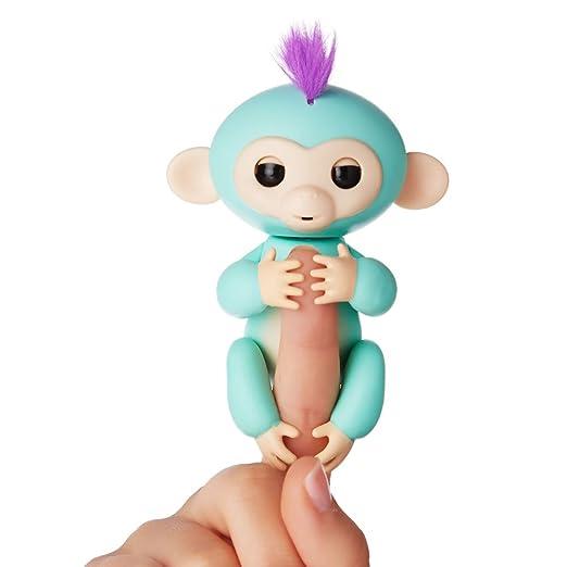 Amazon Com Fingerlings Interactive Baby Monkey Zoe Turquoise