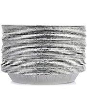 """9"""" Pie Pans for Baking (50 Pack) - Aluminum Foil Pie Tins, Disposable Standard-Size Pie Plates"""