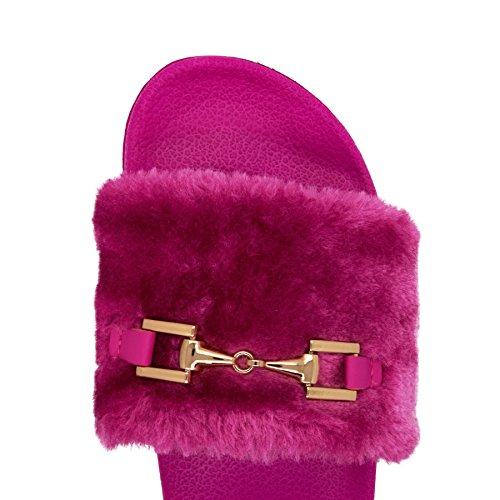 London Footwear - talón abierto mujer Hot Pink